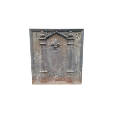 cast iron fireback dated 1961