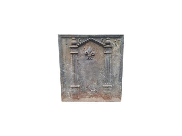 cast iron fireback dated 1961