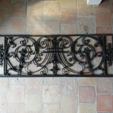 large iron guard rails