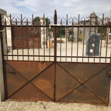 old iron gates at BCA