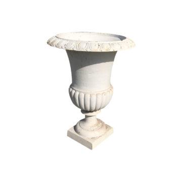 White medicis vase