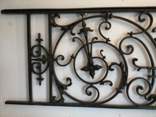 antique iron guards rails in our showroom