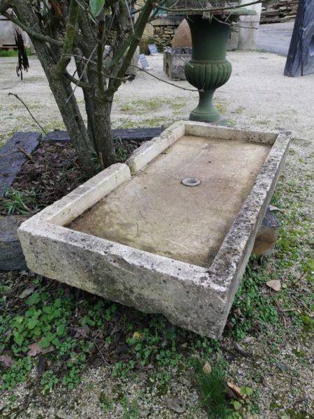 antique rectangular trough