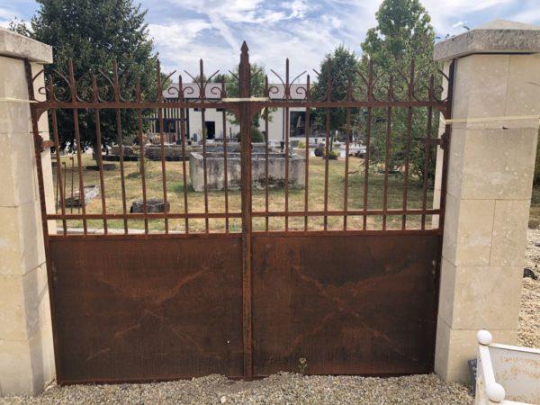 old entrance gates at BCA