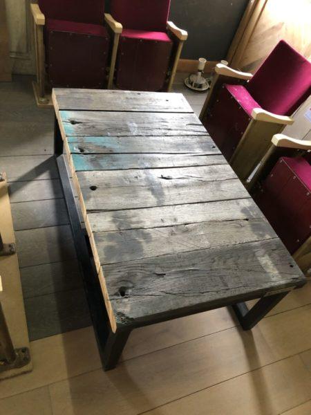 railroad sleeper table