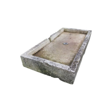rectangular stone trough