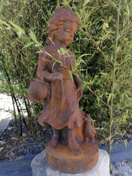 antique statue 64 cm of a girl