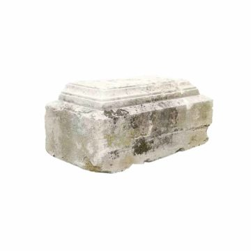 antique limestone plinth