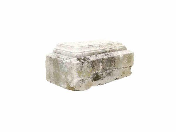 antique limestone plinth