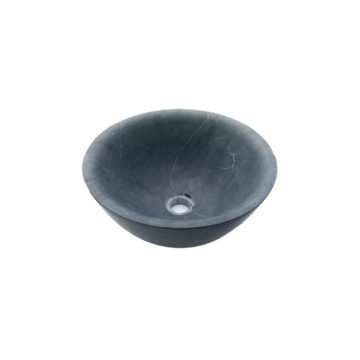 Rounded bluestone washbasin