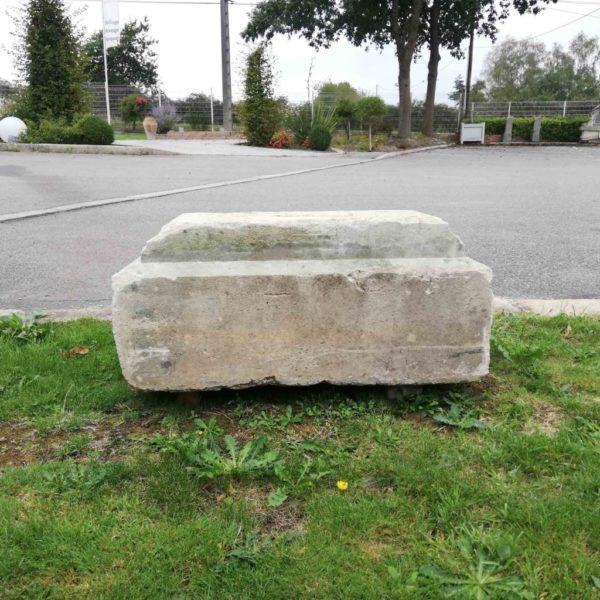 back of the limestone plinth