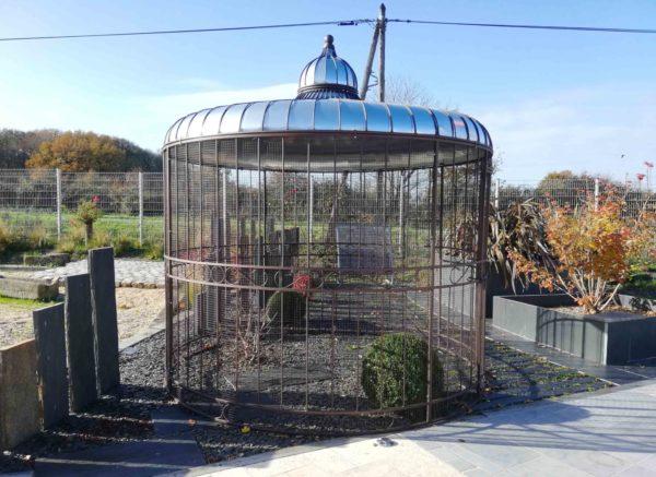 gazebo birdcage in our garden