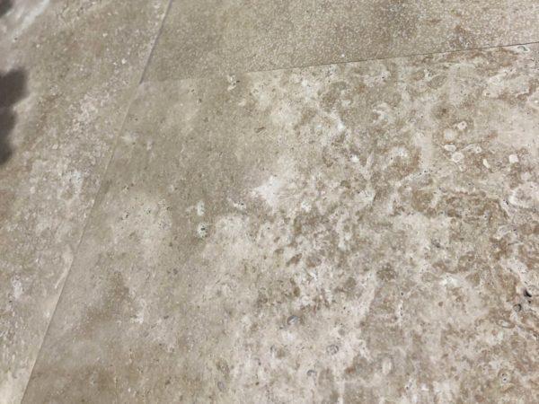 new travertine flooring