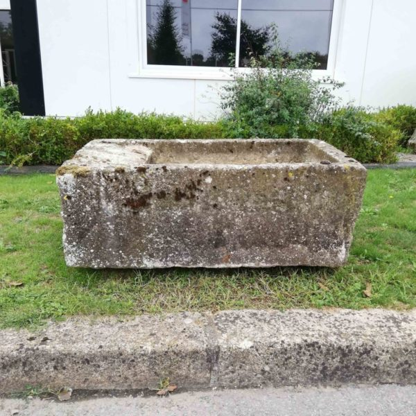 stone sink with a platform