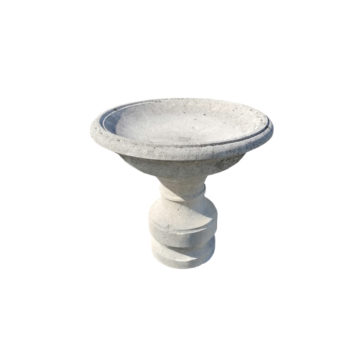 antique bird bath