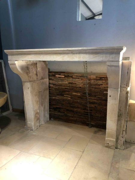 antique rustic style fireplace