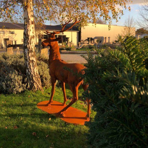 deer statue inour showroom at BCA