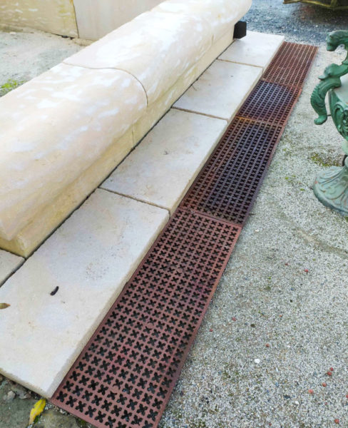 grill with limestone