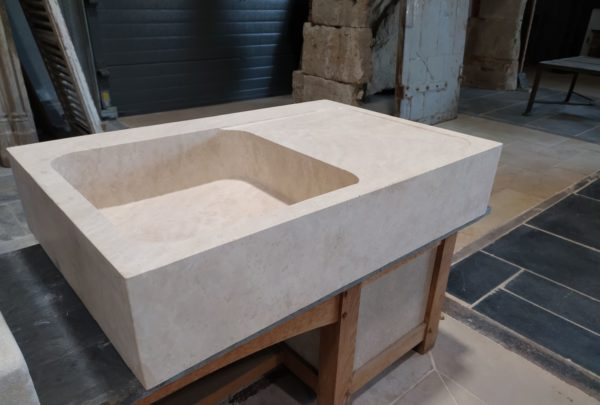 natural stone sink and drainer