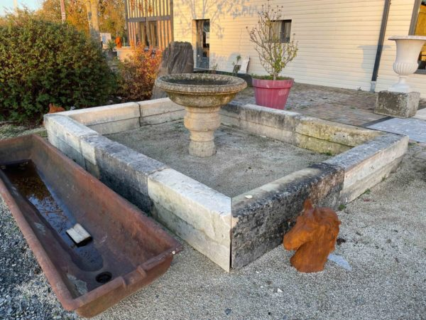 old limestone to create a pool