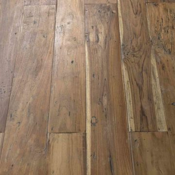 reclaimed antique teak parquet