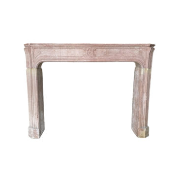 Classic rose corton ston antique mantel