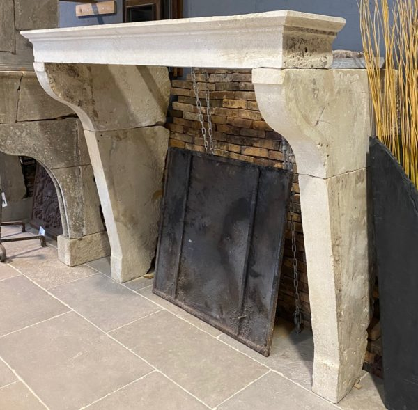 French farmhouse style of fireplace