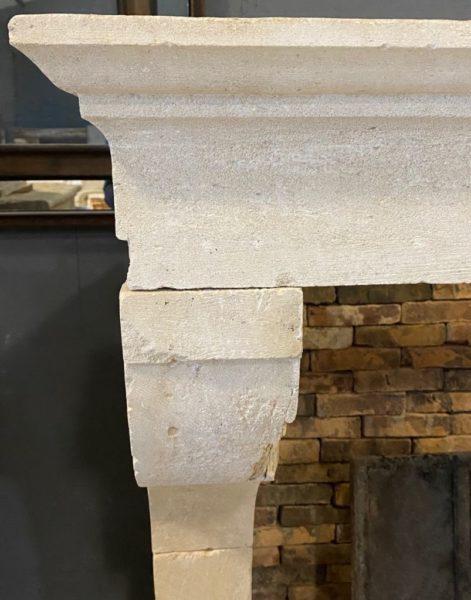 Chimneypiece in limestone