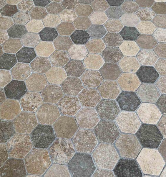 New antiqued hexagonal tiles