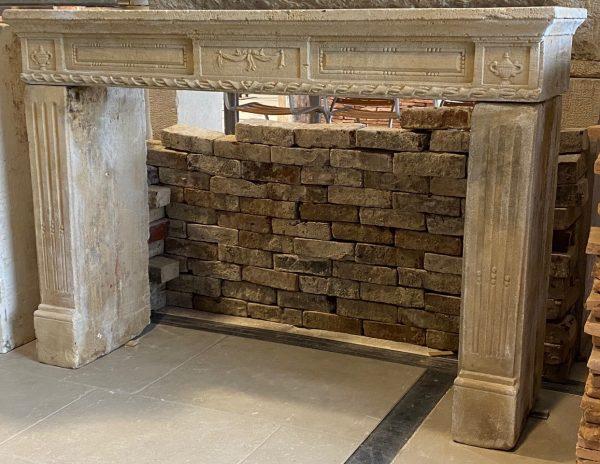 louis XVI fireplace in limestone