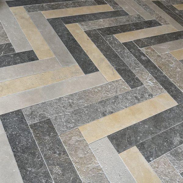 Herringbone new limestone