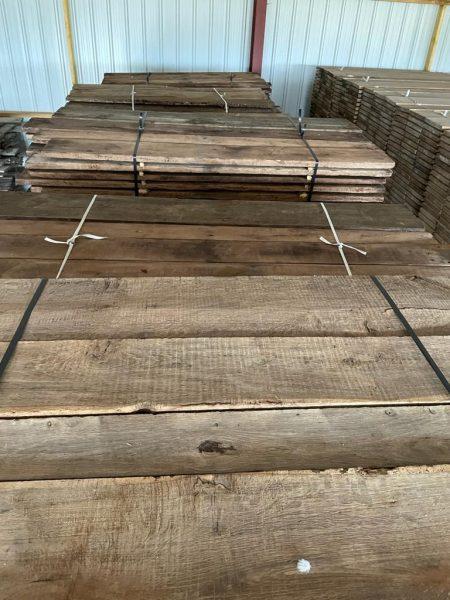 stock of antique oak floorboards
