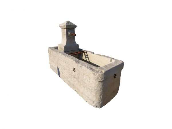 Antique large fountain with spout
