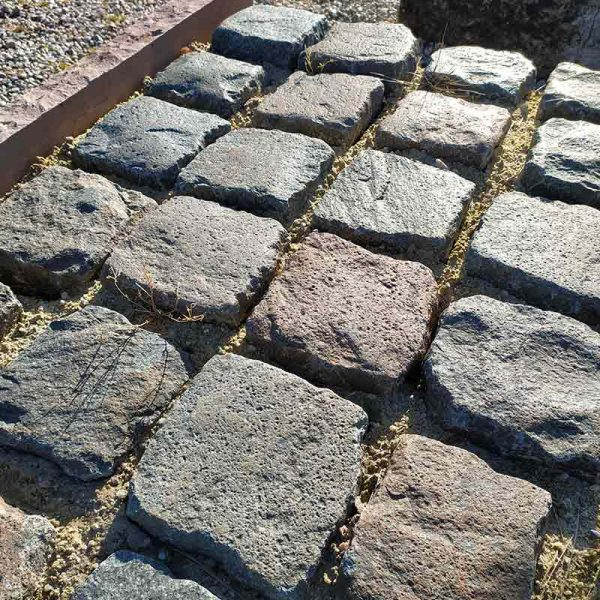 Mixed colour of cobblestone