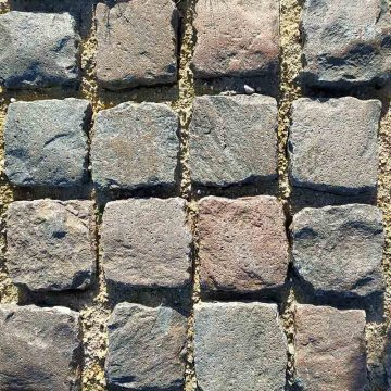 Stone paving porphyry and granit