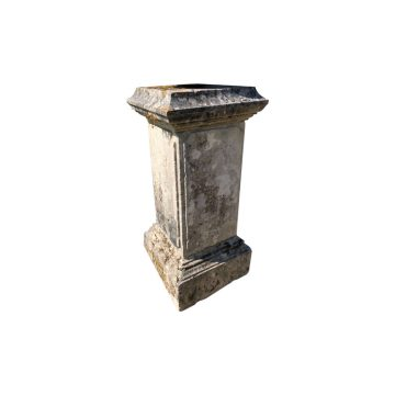 Reclaimed limestone pdestal