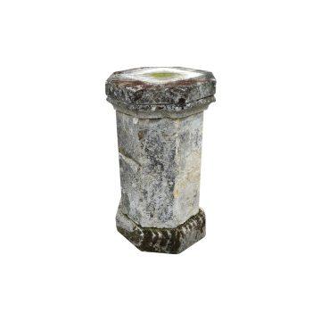 antique limestone pedestal