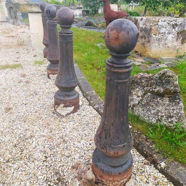 large bollard antique iron