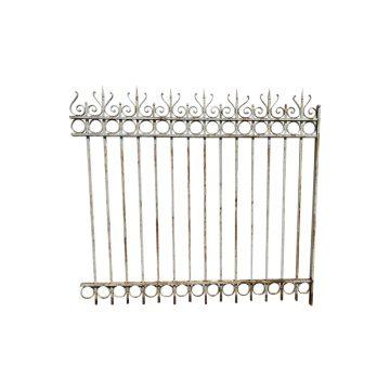 Reclaimed white iron railings
