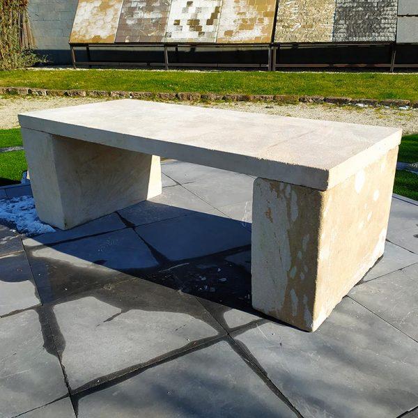 Limestone bench prieuré stone