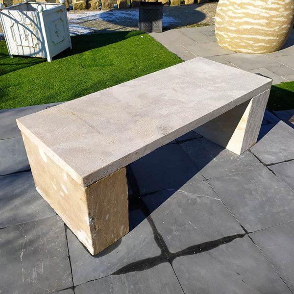 New limestone bench
