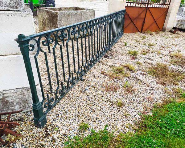 Reclaimed iron railings at BCA