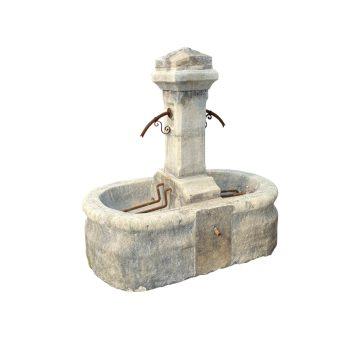Double fountain in reclaimed limestone