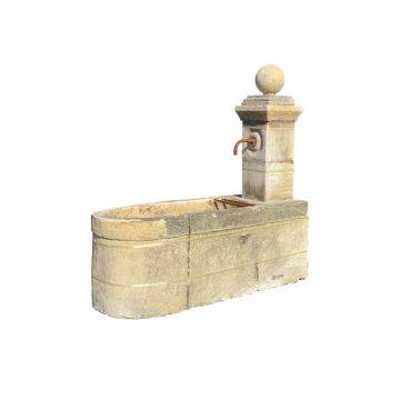 fountain with pillars